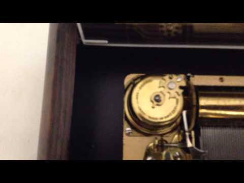 Vintage Reuge Musical Box with  2 tune 50 Note Movement