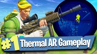 Thermal Vision Assault Rifle Gameplay! - Fortnite Battle Royale