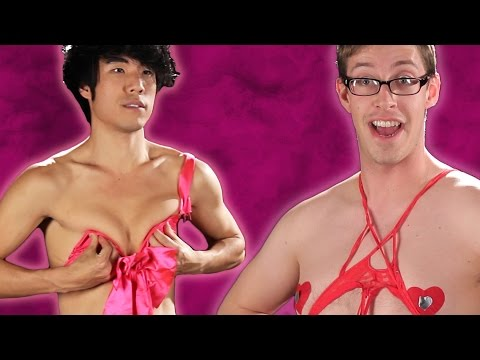 The Try Guys Try Valentine's Day Lingerie video