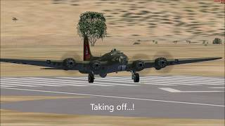 Boeing B-17 Flying Fortress Test Flight   Microsoft Flight Simulator X