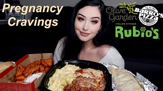 Pregnancy Cravings Mukbang: Pasta, Wings, & Burritos!