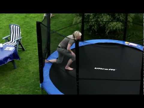 Garten-Trampolin 430 cm mit Sicherheitsnetz - Testsieger von Ultrasport / Ultrafit