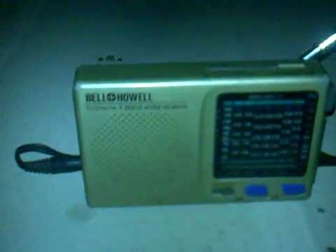 Shortwave Radio running on a rechargeable cell phone battery / good for camping.