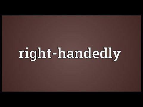 Header of Right-Handedly