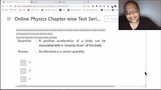 TEST 1 , NEET +AIIMS, 46-60, MOTION IN A  STRAIGHT  LINE ASSERTION REASON QUESTIONS SOLUTIONS