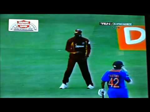 Darren Sammy -funny moments wi vs ind 2011
