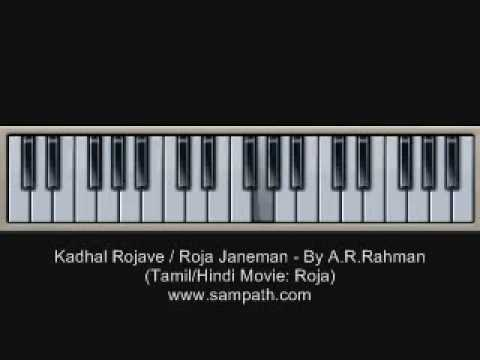 Roja Janeman   Kadhal Rojave - By A.r.rahman - Piano   Keyboard Tutorial video