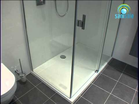 huppe easystep douchebak 140x90 cm youtube. Black Bedroom Furniture Sets. Home Design Ideas