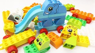 Building Blocks Toys for Children Animals Train Toy Learn Animals for Kids