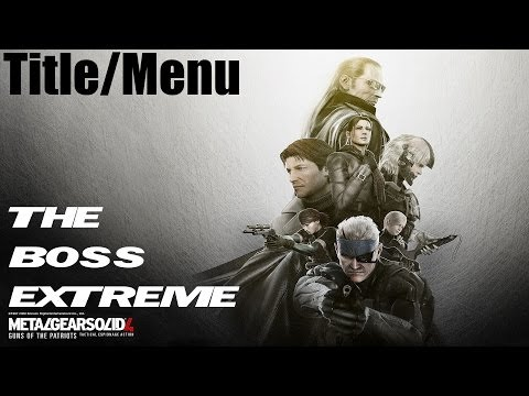 Metal Gear Solid 4 - Guns Of The Patriots - Menu Screen video
