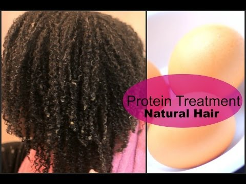 Egg and Extra Virgin Olive Oil Protein Treatment On Natural Hair