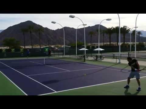 Ernests Gulbis and Andre Begemann 4K - BNP Paribas Open 2015