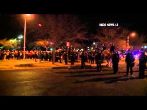 Demonstrators Clash With Albuquerque Police