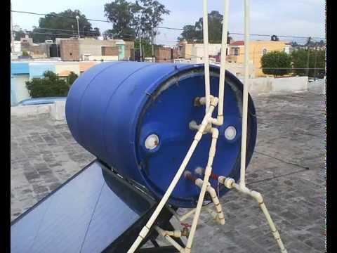 Calentador solar  de agua casero con tuberia de CPVC