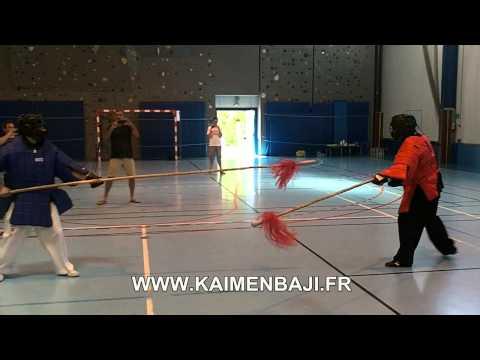 Baji Quan Big spear fighting
