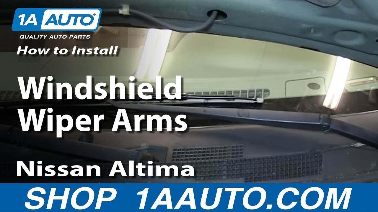 how to install replace windshield wiper arms 2002