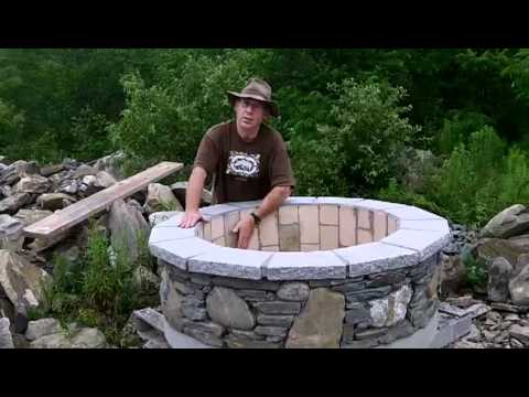 Completed Custom Firebrick Amp Stone Fire Pit Youtube