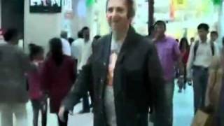 Franz Harary hanging out in a mall in India