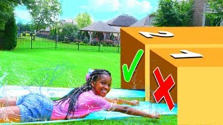 DONT Water Slide Through The Wrong MYSTERY BOX! - Onyx Kids