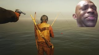 Red Dead Online Fishing in a Nutshell   RDR 2 Funny Fails & Glitches