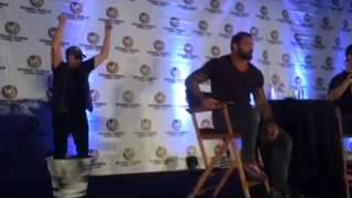 """Marvel's """"Guardians of the Galaxy"""" - Michael Rooker & Dave Bautista Grooting"""