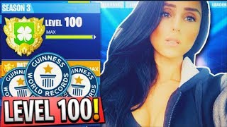 NEW #1 FIRST GIRL ROAD TO LEVEL 100 FORTNITE BATTLE ROYALE!!! PS4 GAMEPLAY
