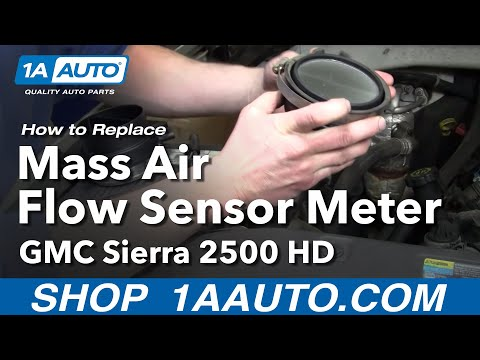 How To Install Replace Mass Air Flow Meter Sensor Chevy Silverado Tahoe Sierra 9
