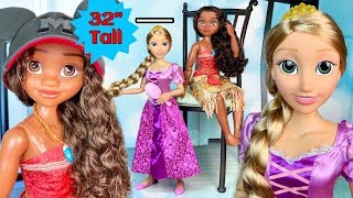 Rapunzel & Moana HUGE 32' INCHES TALL Disney Dolls by Jakks Pacific (REVIEW)