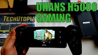 UHANS H5000 gaming test/gameplay/games with gamepad