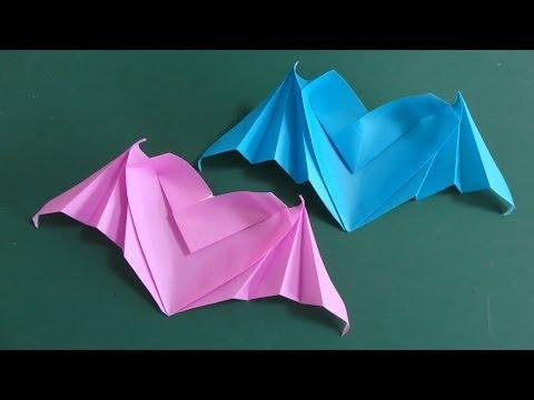 Bat Heart Origami Origami Heart Bat