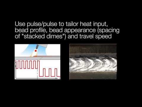 High Speed Video - ESAB SuperPulse Modified Pulsed MIG Welding Arcs