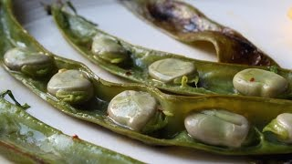 Grilled Fava Beans - How to Grill Fava Beans - Fava Beans on the Half Shell