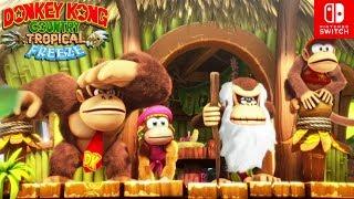 Una Nueva Aventura de Fails COMIENZA!! - Donkey Kong Country TROPICAL FREEZE (SWITCH) - ZetaSSJ