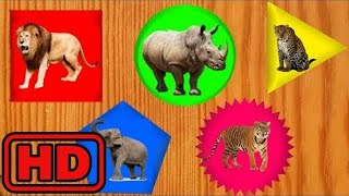 Kid -Kids -Learn Shapes And ZOO Wild Animals/Children Puzzle Animation Learning /Animals Dancing Fu