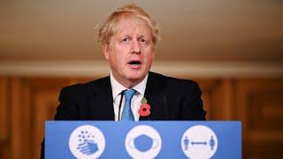 video: Second lockdown will end on December 2, Boris Johnson pledges