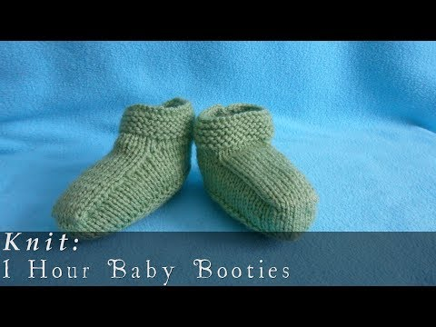 1 Hour Baby Booties { Knit }