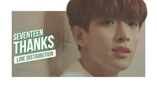 SEVENTEEN - THANKS Line Distribution (Color Coded)   ??? - ???
