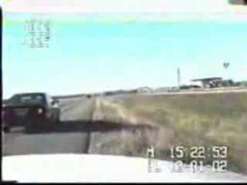 Idiot gets taken out by truck when pulled over by police