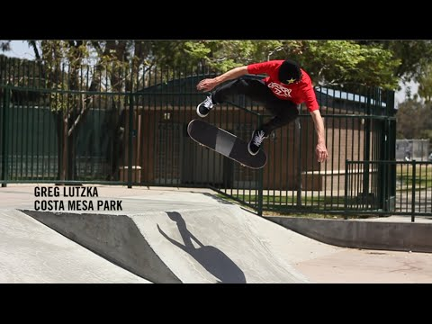 Greg Lutzka skating Costa Mesa park
