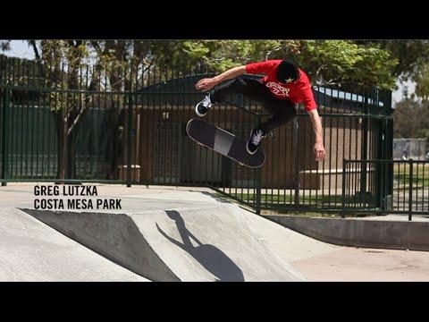 Greg Lutzka skating Costa Mesa park