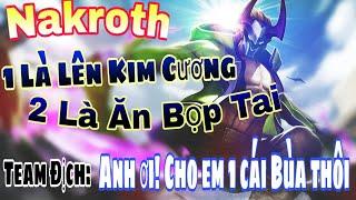 Kèo cực căng! Funny vác Nakroth kéo Vợ ván cuối lên Kim Cương gặp ngay Best Nakroth thông thạo S!