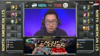 Video clip [LCS NA] [Tuần 4] MRN vs Team Solomid [04.03.2013]
