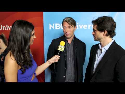 Hugh Dancy and Mads Mikkelsen from Hannibal @ NBC Red Carpet | AfterBuzz TV Interview