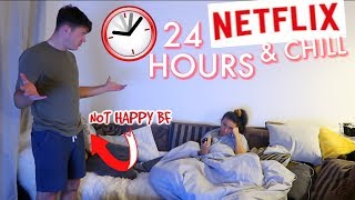 24 HOUR WATCHING NETFLIX | 24 HOUR CHALLENGE