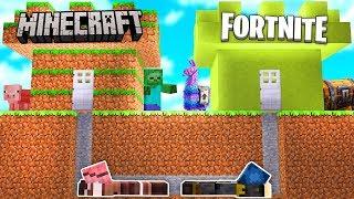 Minecraft ITA - CASTELLO DI MINECRAFT VS CASTELLO DI FORTNITE