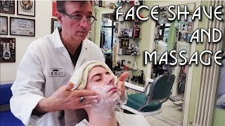💈 Italian Barber Shop Da Pietro - Face Shave and Massage - ASMR no talking