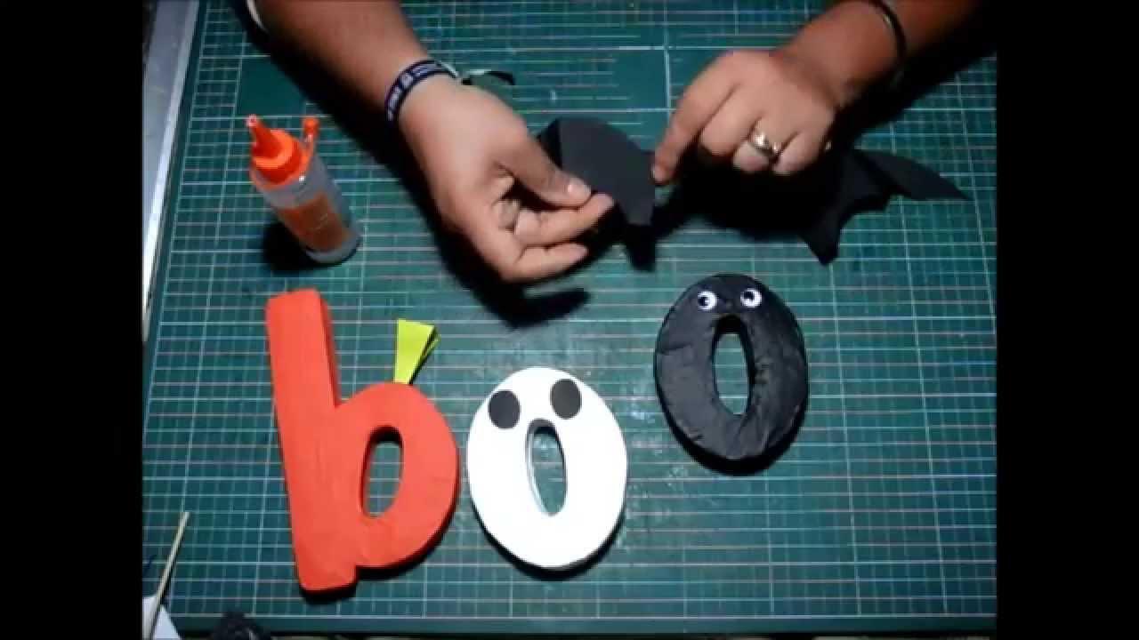 Como decorar letras para halloween youtube - Letras infantiles para decorar ...