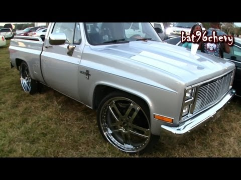 Silver Short Bed Chevy Silverado C10 Truck on 26