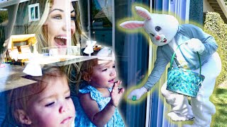 CATCHING THE EASTER BUNNY IN OUR BACKYARD!