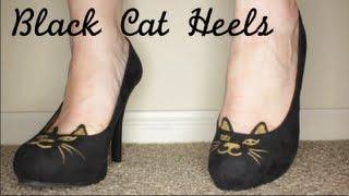DIY Black Cat Shoes